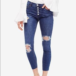 Free People Destroyed Reagan Button Front